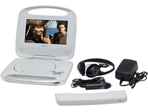 "Disney 7""inch Portable Widescreen LCD Mobile DVD Player"