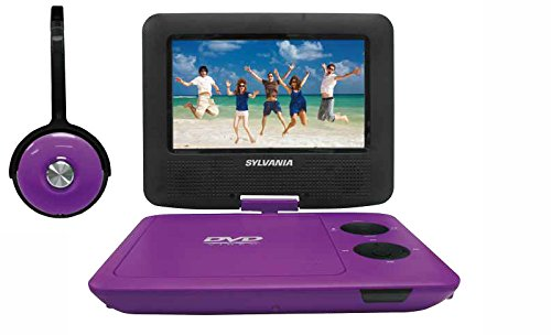 Sylvania SDVD7043-PURPBLK 7-Inch Portable DVD Player