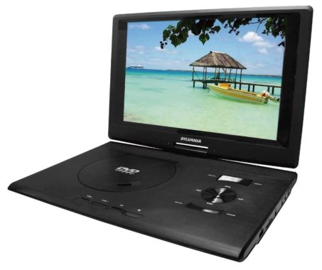 Sylvania SDVD1332 13.3-Inch Swivel Screen Portable DVD Player with USB/SD Card Reader