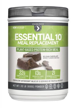 Designer Protein Essential 10 Plant-Based Meal Replacement best meal replacement shakes reviews