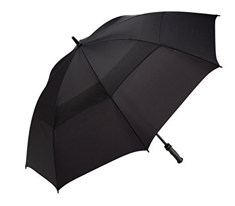WindJammer by ShedRain 3620-B Black 62-Inch Manual Open Vented Golf Umbrella
