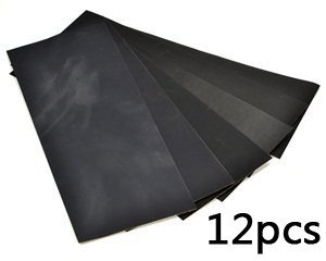 "Bluecell Pack of 12 Sandpaper abrasive dry/wet paper Sheets 400/600/800/1000/1200/1500 Grit 9"" x 3.6"" hobby tool"