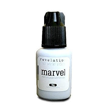 No Tears/Burn, Marvel Eyelash Extension Glue- 10g by Revelation. For those with chemical Sensitivity. Eyelash Extension Adhesive!