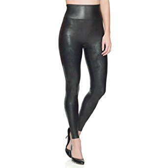 SPANX Women's Ready to Wow Faux Leather Leggings, Black, X-Small