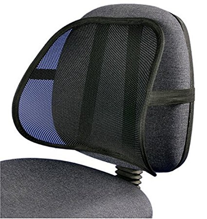 PrimeTrendz TM Cool & Breathable Mesh Support - Lumbar Support Cushion Seat Back Muscle Car Home Office Chair Pain Relief Travel by Lumbar Mesh Supporter