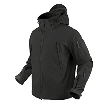 Condor Outdoor COP-602-002-04 Soft Shell Jacket, Black - Extra Large