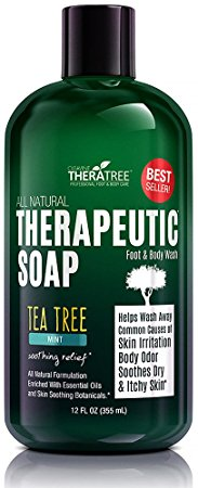 Oleavine Antifungal Soap with Tea Tree and Neem for Body, 12 oz