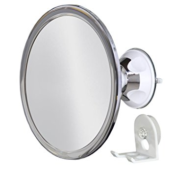 No Fog Shower Mirror with Rotating, Locking Suction; Bonus Separate Razor Holder | Adjustable Arm for Easy Positioning | Best Personal Mirror for Shaving Available | The Perfect Gift
