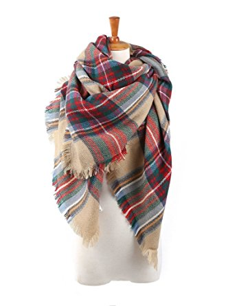 Spring Fever Stylish Warm Blanket Scarf Gorgeous Wrap Shawl A Brown Red