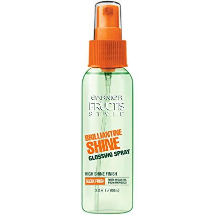 Garnier Fructis Style Brilliantine Shine Glossing Spray, All Hair Types, 3 oz. (Packaging May Vary)