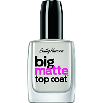 Sally Hansen Treatment Big Matte Top Coat, 41055, 0.4 Fluid Ounce