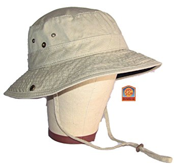 Dorfman Pacific Outdoor Khaki & Black Bucket Hat Medium