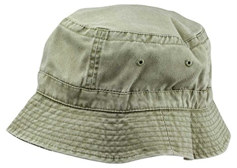 Khaki Washed Cotton Bucket Hat -Extra Large 7 3/8 Size