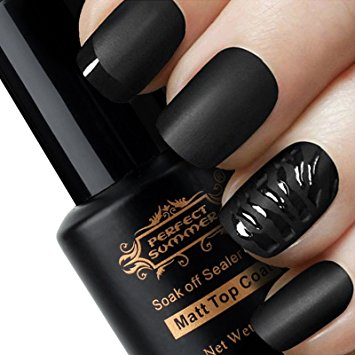 Perfect Summer Pro 8ml Matte Finished Clear Top Coat UV LED Gel Nail Polish for French Maincure Art