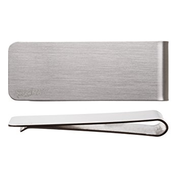 SHARKK® Silver Stainless Steel Slim Money Clip Wallet