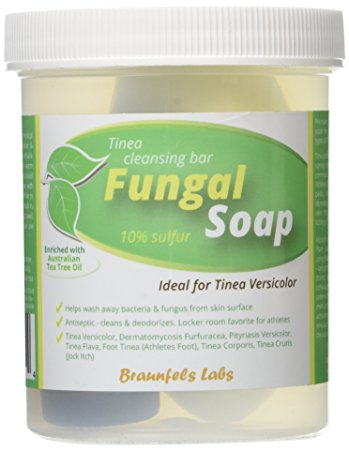 Fungal Soap - Tinea Versicolor, Tinea Corporis, Foot Tinea (Athletes Foot), Tinea Cruris (Jock Itch)