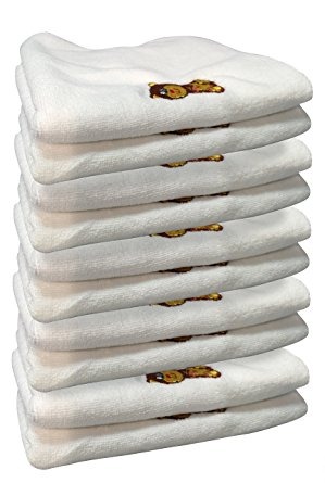 Jet Storm Baby Bib and Burp Microfiber Towels - White (10 Pack)