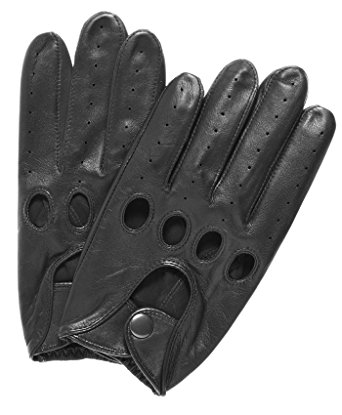 Pratt and Hart Traditional Leather Driving Gloves Size M Color Black