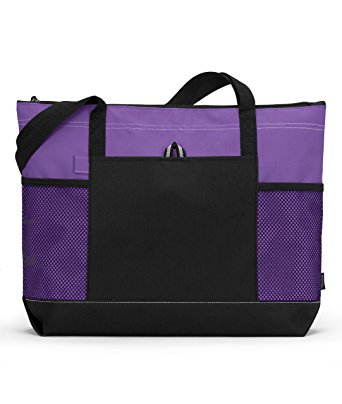 Gemline 1100 Select Zippered Tote - Purple - One Size