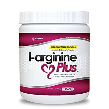 L-arginine Plus® - #1 L-arginine Supplement - Support Blood Pressure, Cholesterol and More with 5110mg L-arginine & 1010mg L-citrulline, Grape, 13.4 OZ