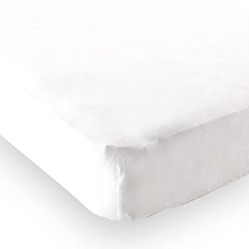 Luvable Friends Fitted Knit Crib Sheet, White