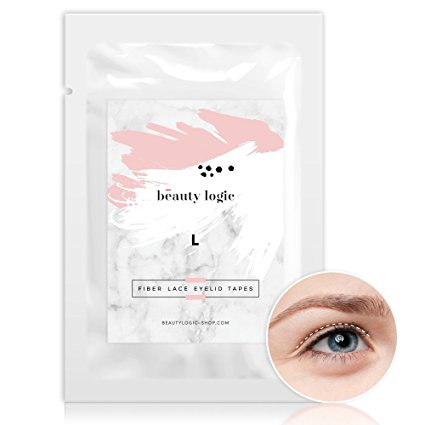 Beauty Logic Ultra Invisible Fiber Lace Eyelid Lift Kit-120 pcs(Large). Double Eyelid Tape perfect for hooded, droopy, uneven, or mono-eyelids, NO GLARE GUARANTEED