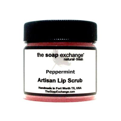 Lip Scrub Peppermint 1.5 oz Natural Artisan Lip Care by The Soap Exchange