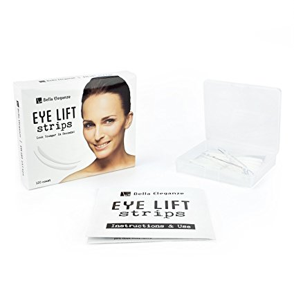 Bella Eleganze Beauty Eyelid Tape Instant Eye-lift Without Surgery - Achieve a Subtle, Beautiful & Youthful Appearance 120 Strips Medical Grade Latex Free Hypoallergenic - Small 3mm x 26mm