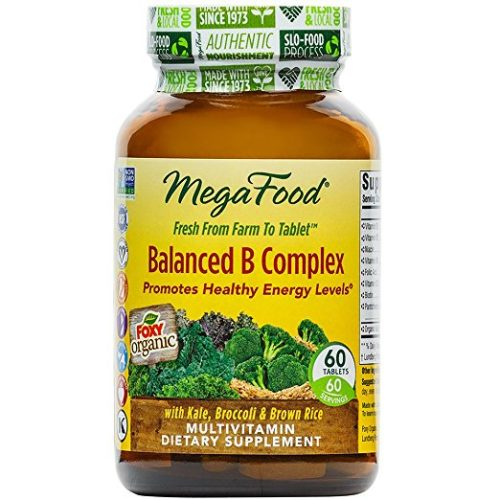 MegaFood - Balanced B Complex, Promotes Energy & Health of the Nervous System, 60 Tablets (FFP)
