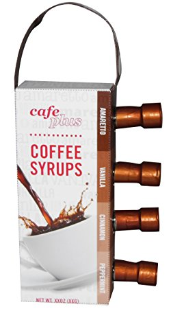 MSRF Cafe Plus Variety Pack, Gourmet Coffee Syrup, 9.4 Ounce
