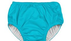 i play. Toddler Snap Reusable Absorbent Swim Diaper, Aqua, 3T
