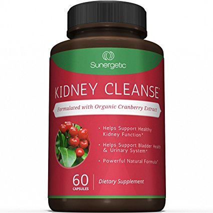 Best Kidney Cleanse Supplement - Premium Kidney Support Formula With Organic Cranberry Extract Helps Support Healthy Kidneys, Detox, Bladder Health & Urinary Tract- 60 Vegetarian Capsules