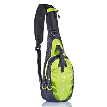 LC Prime® Sling Bag Chest Shoulder Unbalance Gym Fanny Backpack Sack Satchel Outdoor Bike nylon fabric green 1