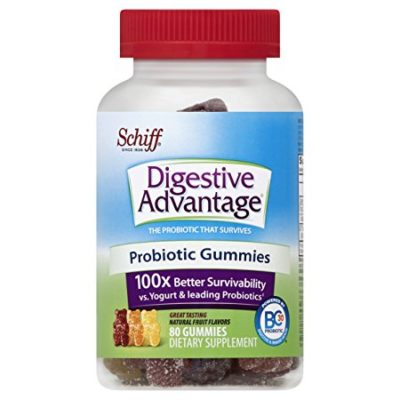 Digestive Advantage Probiotic Gummies Daily Supplement-Survives 100x better than yogurt and leading probiotic, Natural Fruit, 80 Gummies