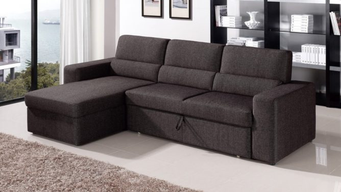 Zuri Furniture Clubber Sleeper Sectional Sofa - Left Chaise - best pull out couch