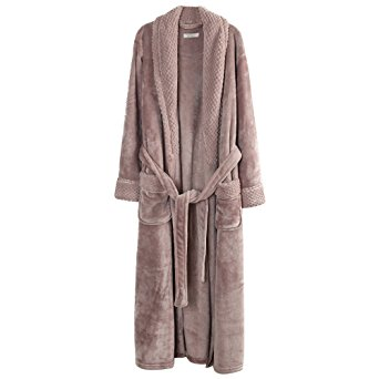 Richie House Women's Plush Soft Warm Fleece Bathrobe RH1591-D-L