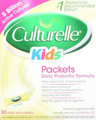 Culturelle Kids Packets Daily Probiotic Formula, One Per Day Dietary Supplement, Contains 100% Naturally Sourced Lactobacillus GG -The Most Clinically Studied Probiotic†, 30 Count