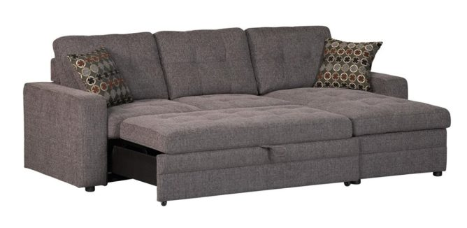 Coaster Home Furnishings Chenille Sleeper Sofa with Storage