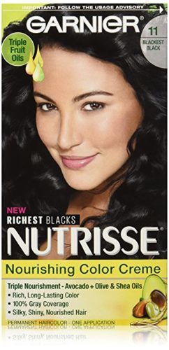 Garnier Nutrisse Nourishing Color Creme, 11  Blackest Black (Packaging May Vary)