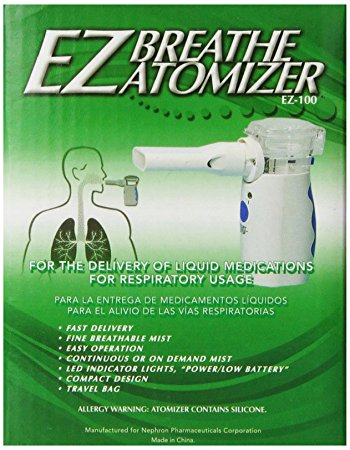 EZ Breathe Atomizer Asthma-Inhalers, Model # EZ-100
