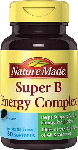 Nature Made Super B Complex Full Strength Softgel, 60 Count (Packaging may vary)
