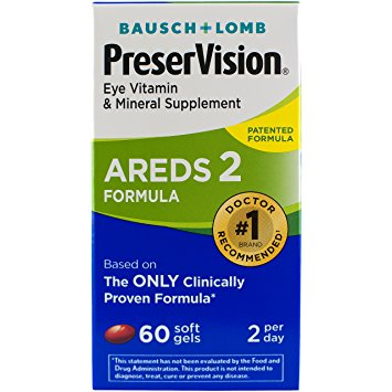 PreserVision Eye Vitamin and Mineral Supplement, Areds 2 Formula, 60 Count