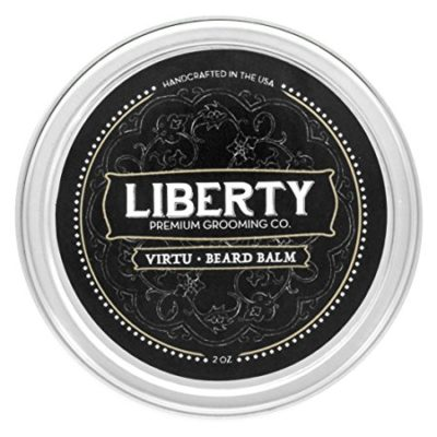 Beard Balm by Liberty Grooming ※ Best Softening Leave-In Conditioner for Men ※ Groom, Soften, Shape & Style Your Beard, Whiskers, and Mustache
