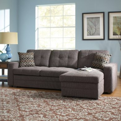 Coaster Home Furnishings Sectional Sofa with Pull Out Bed Chaise