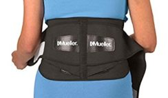 "Mueller 64179 Lumbar Support Back Brace with Removable Pad, Regular(28"" - 50"" waist), Black"