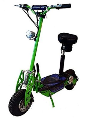 "Super Turbo 1000watt Elite 36v Electric Scooter ""Neon Green"" (Now includes Econo/Turbo mode button!)"