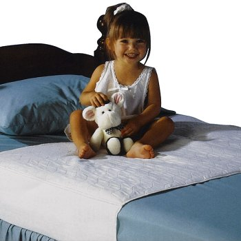 """Saddle Style Soaker Mattress Pad - Will Absorb 6 Cups of Liquid - Made in America (34"""" X 36"""")"""