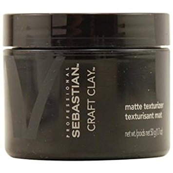 Sebastian Craft Clay Remoldable Matte Texturizer Unisex, 1.7 Ounce
