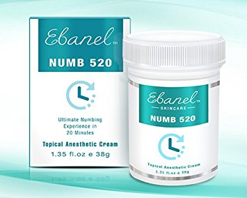 Numb 520 (1.35oz / 38g) 5% Lidocaine, Liposomal Technology for Deeper Penetration, Topical Numbing Cream, Doctor Recommended, Local and Anorectal Discomfort (1)