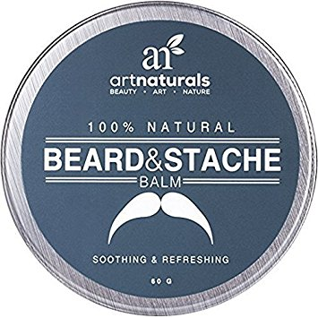 ArtNaturals Beard and Mustache Balm/Oil/Wax/Leave In Conditioner, 100% Natural Conditioning that Soothes Itching, Thickens, Strengthens, Softens, Tames and Styles Facial Hair Growth, 2.0 oz.